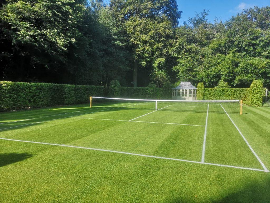 FieldForm Construction & Installation of Natural Turf Tennis Court
