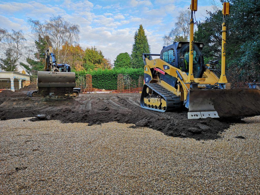 FieldForm Construction of Natural Turf Tennis Court