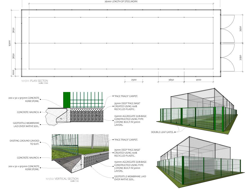 Cricket net design