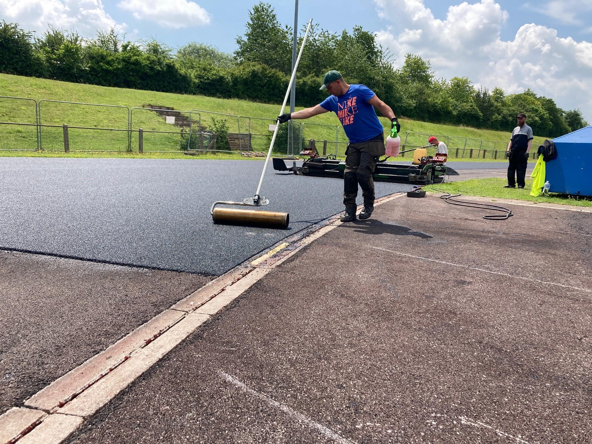Athletics track resurfacing
