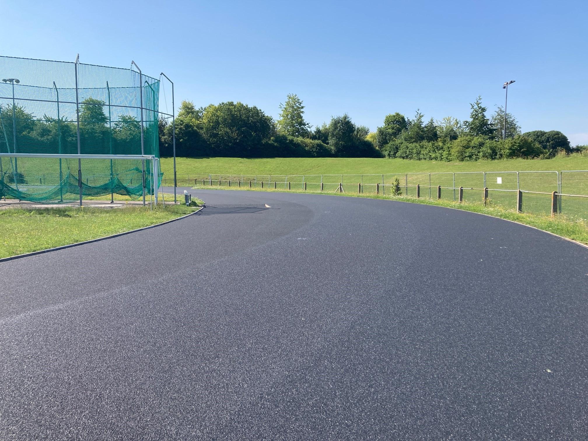 Athletic track resurface